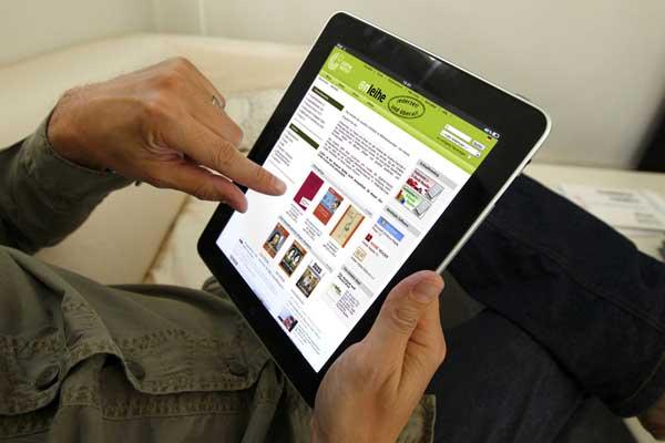 Пользоваться электронной библиотекой могут все желающие, проживающие в Беларуси, на бесплатной основе. Copyright: Goethe-Institut Minsk.