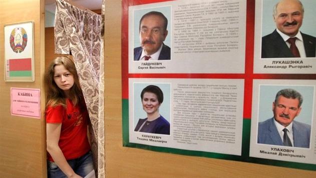В Беларуси 11 октября 2015 года основной день голосования на президентских выборах. Фото EPA/UPG