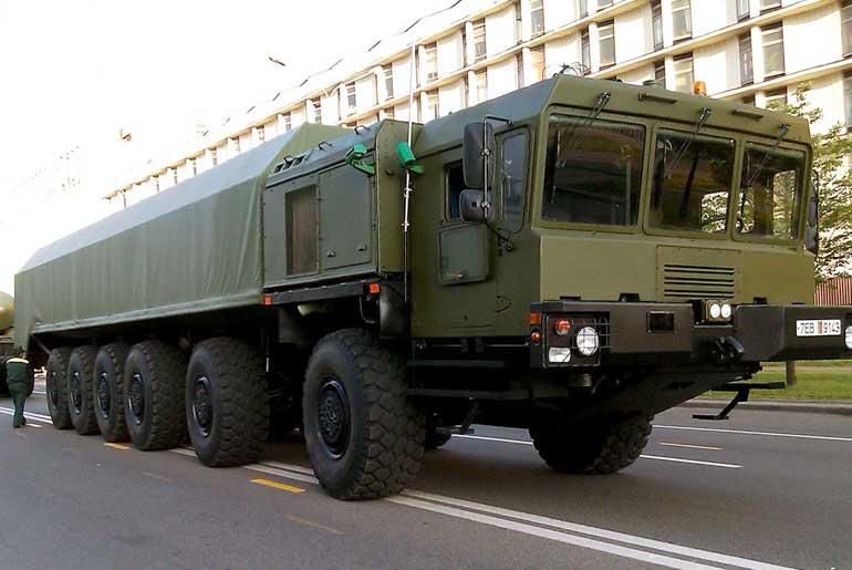 Шасси  МЗКТ-79291 для автономной пусковой установки  РС-26. Минск, 3 июля 2013 года.