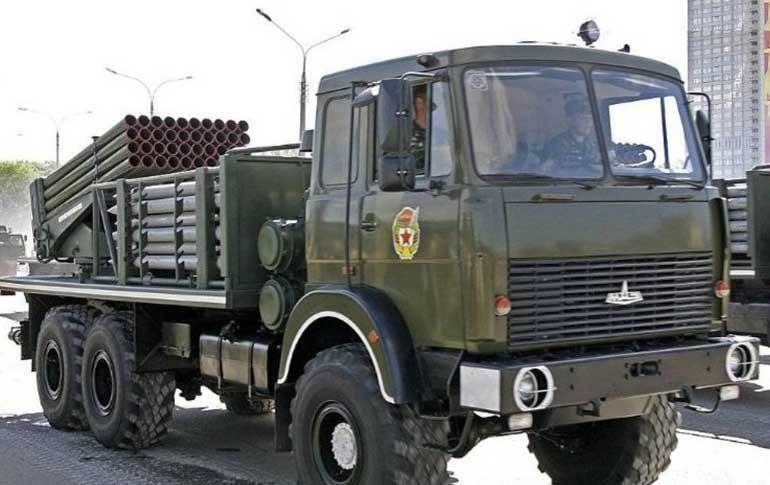 Первым кандидатом на применение МАЗ-6317 стали установки РСЗО «Град», принятые на вооружение советской армии еще в далеком 1963 году.