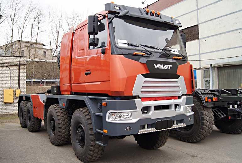 Тягач МЗКТ-750440-10 предназначен для коммерческого использования и способен в составе автопоезда транспортировать грузы максимальной массой до 90 т.  Фото www.mzkt.by