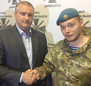 Глава российской администрации Крыма Сергей Аксенов и Алексей Мильчаков.