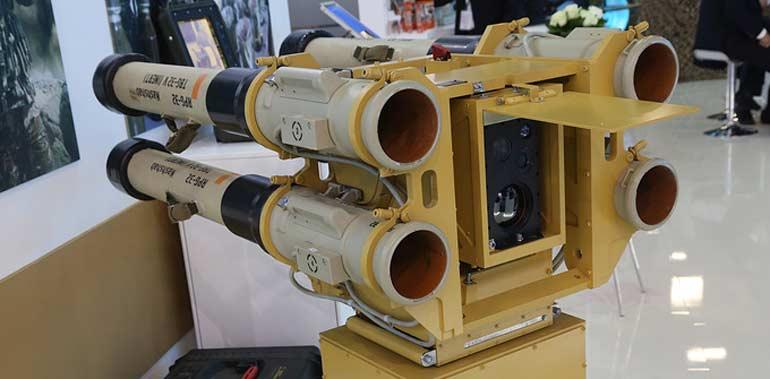 Счетверенная пусковая установка РПГ-32 «Нашшаб».