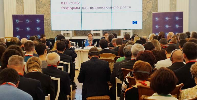 Интерес к дискуссиям на площадке KEF по-прежнему не остывает, несмотря на пессимизм экспертов относительно судьбы белорусских реформ. Фото IPM Research Center