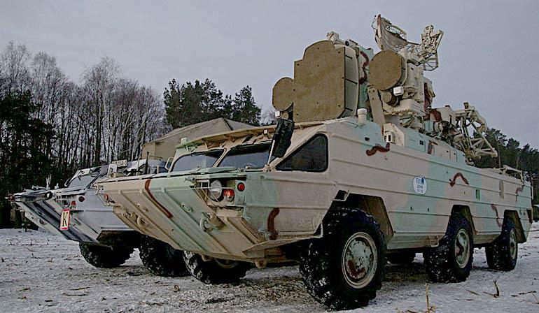 На полигоне Полесский в Брестской области прошли испытания опытного образца модернизированной боевой машины (БМ) 9А33-1Б из состава ЗРК «Оса».  Фото Ирины Малиновской (http://vsr.mil.by)