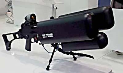 Радиоэлектронное ружье для борьбы с мультикоптерами «Гроза - Р». Фото janes.com