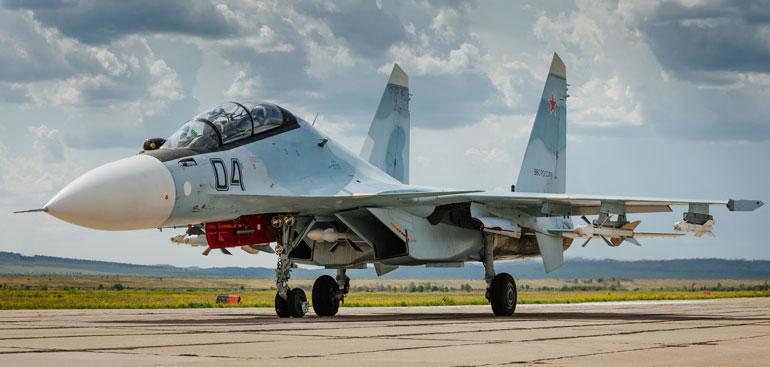 Су-30СМ, в случае их передачи в Беларуси, вполне могут рассматриваться в качестве одного из действенных средств нейтрализации объектов ЕвроПРО на территории Польши. Фото http://militaryarms.ru