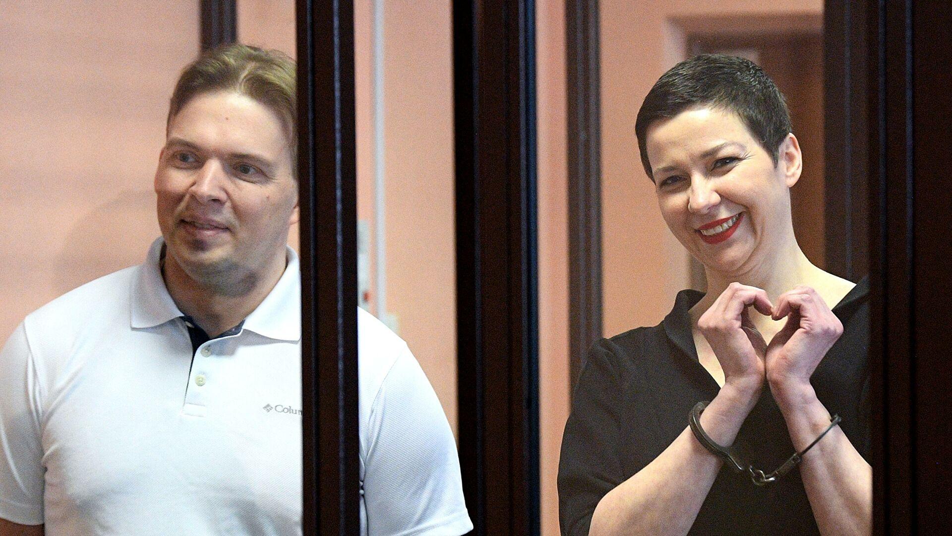 Мария Колесникова и Максим Знак осуждены на 11 и 10 лет колонии — Белрынок